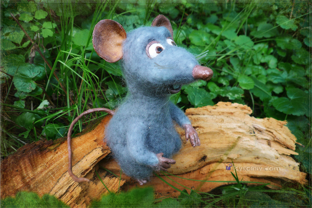 Micromys minutus Айс)) микро-мышка... сухое валяние.