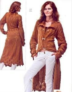 """""""Осень - рыжая подружка, два пальто спицами"""""""
