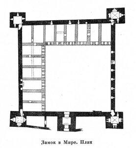 Мирский замок, план