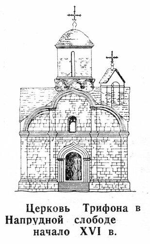 Церковь Трифона в Напрудной слободе, фасад