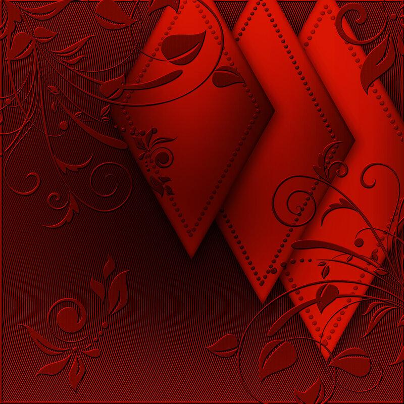 Открытки праздником, красно-золотая открытка