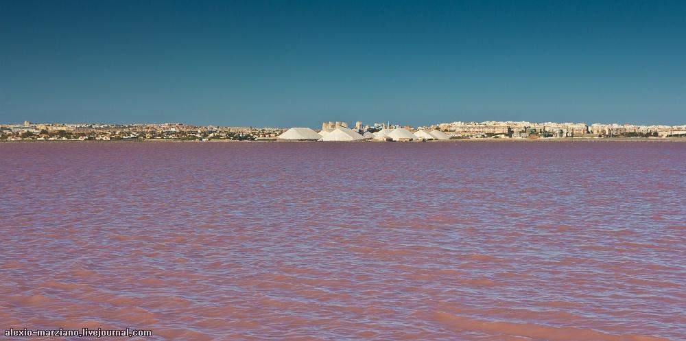 озеро Салинас де Торревьеха в Испании