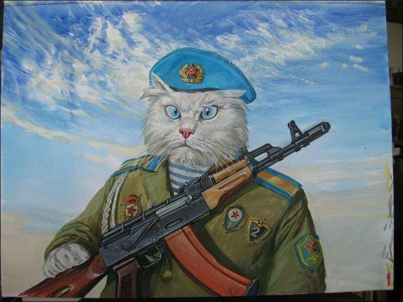 Военные коты от Александра Завалия
