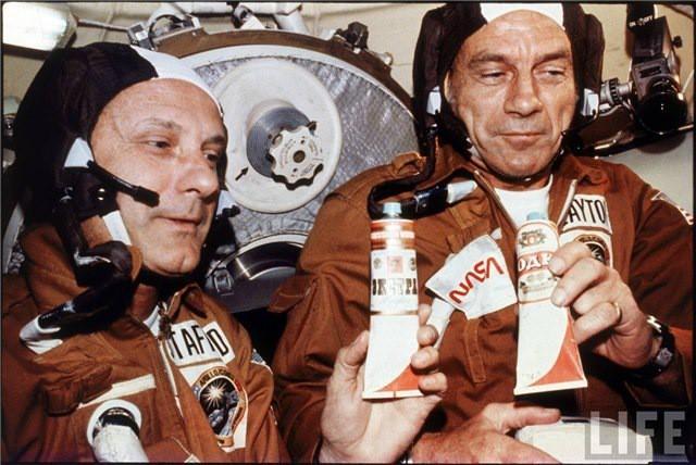 Запуск корабля Союз-19 в 1975 г.: К тому времени полёты в Космос для СССР уже стали повседневностью,