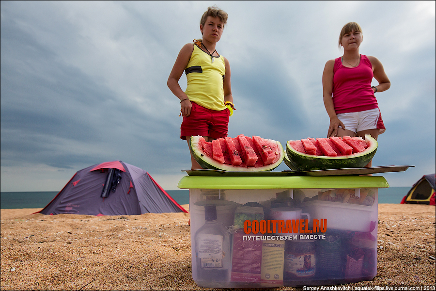 С палаткой к морю на 9 дней