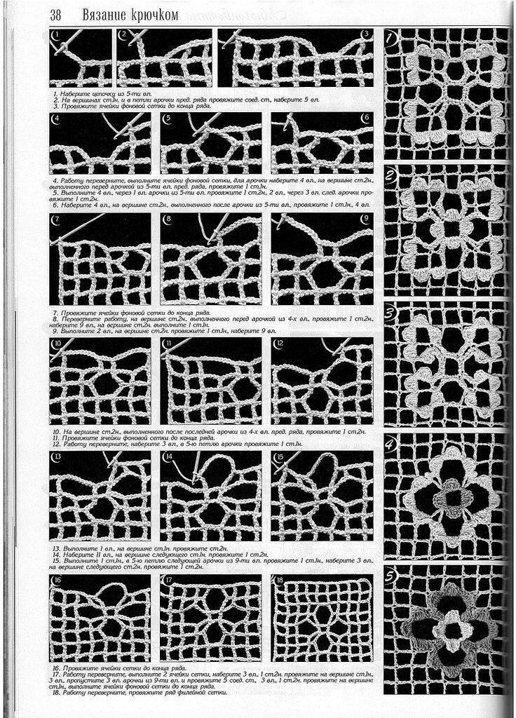 Узор сетка - Схемы вязания 91