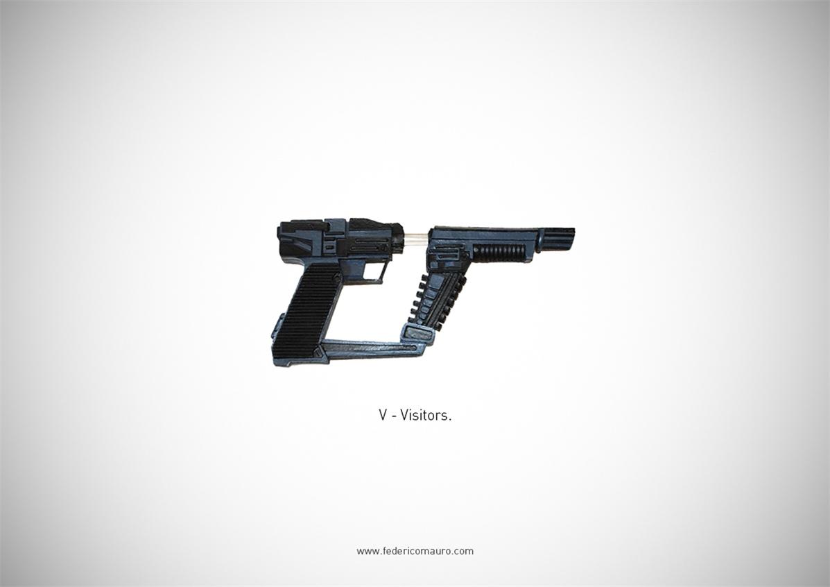 Знаменитые пушки - оружие культовых персонажей / Famous Guns by Federico Mauro - Visitors