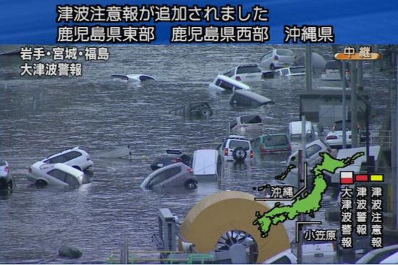 Из цунами в Японии вынырнуло что-то странное