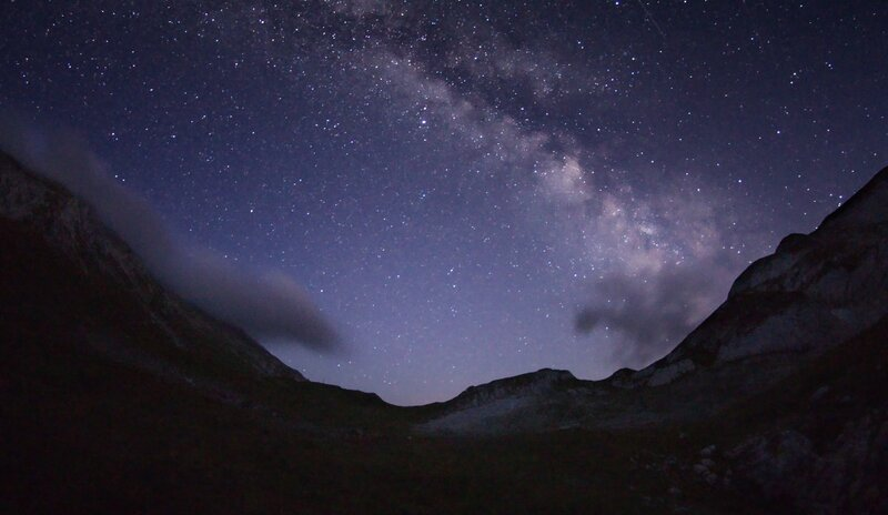 Млечный путь над фишт-оштеновским перевалом.