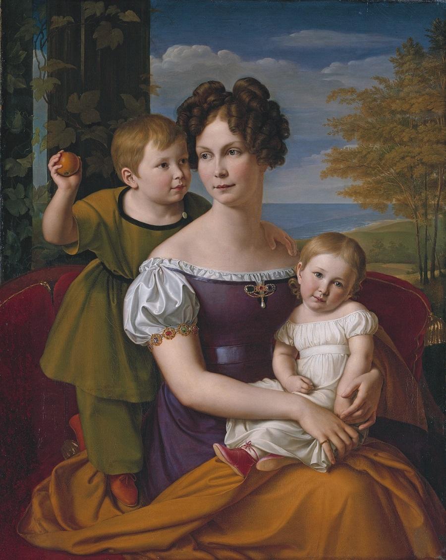 Alexandrine von Mecklenburg and her children, by Friedrich Wilhelm von Schadow