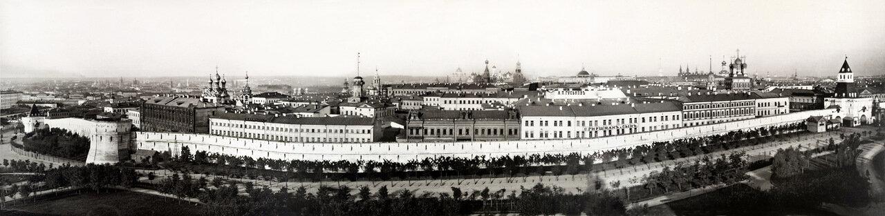 Панорамная фотография Китай-Города в 1887 году