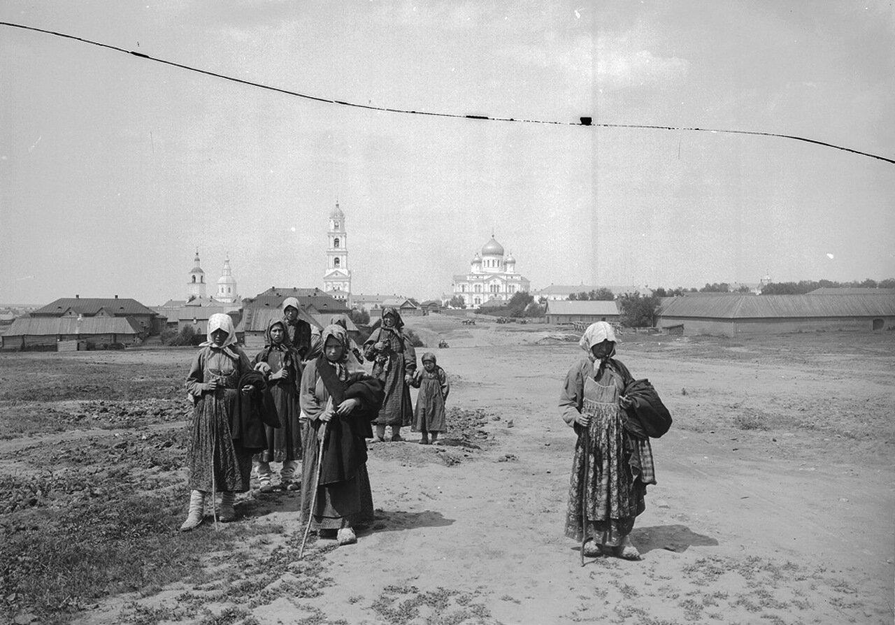 Дивеевский женский монастырь. Общий вид монастыря. 1904 г.