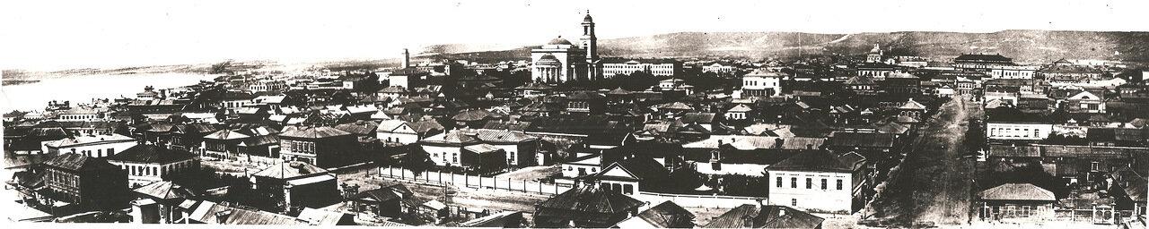 Вид на город с пожарной каланчи на Введенской улице. 1860e