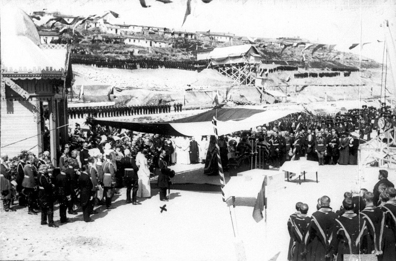 Освящение Северного дока в присутствии императора Николая II
