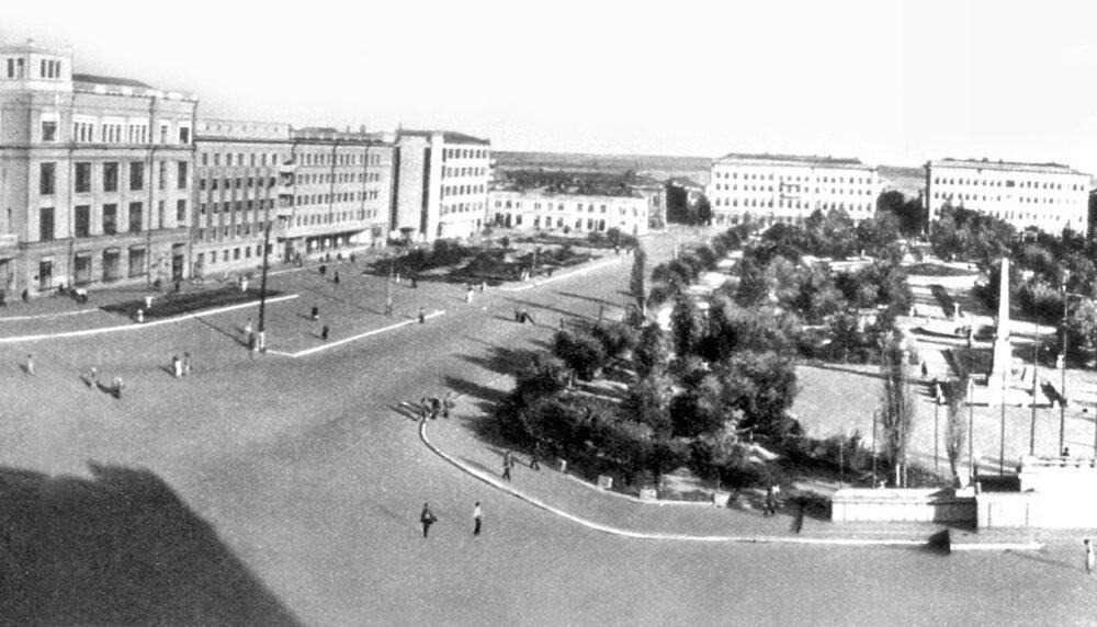 Сталинград, Аллея Героев в 1948 году.