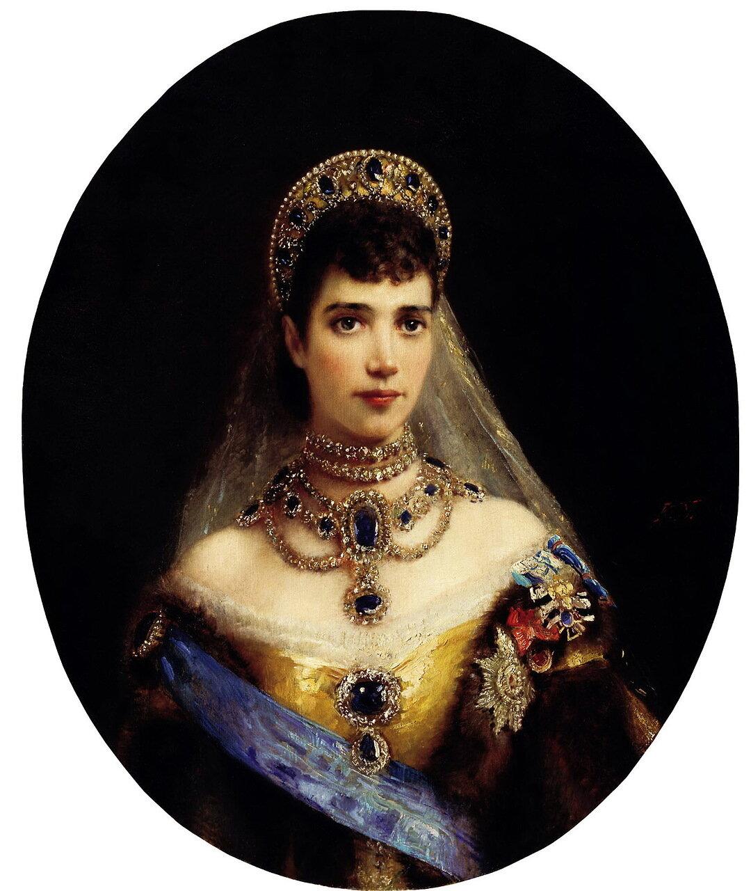 Константин Маковский (1839-1915). Портрет императрицы Марии Федоровны, жены Александра III