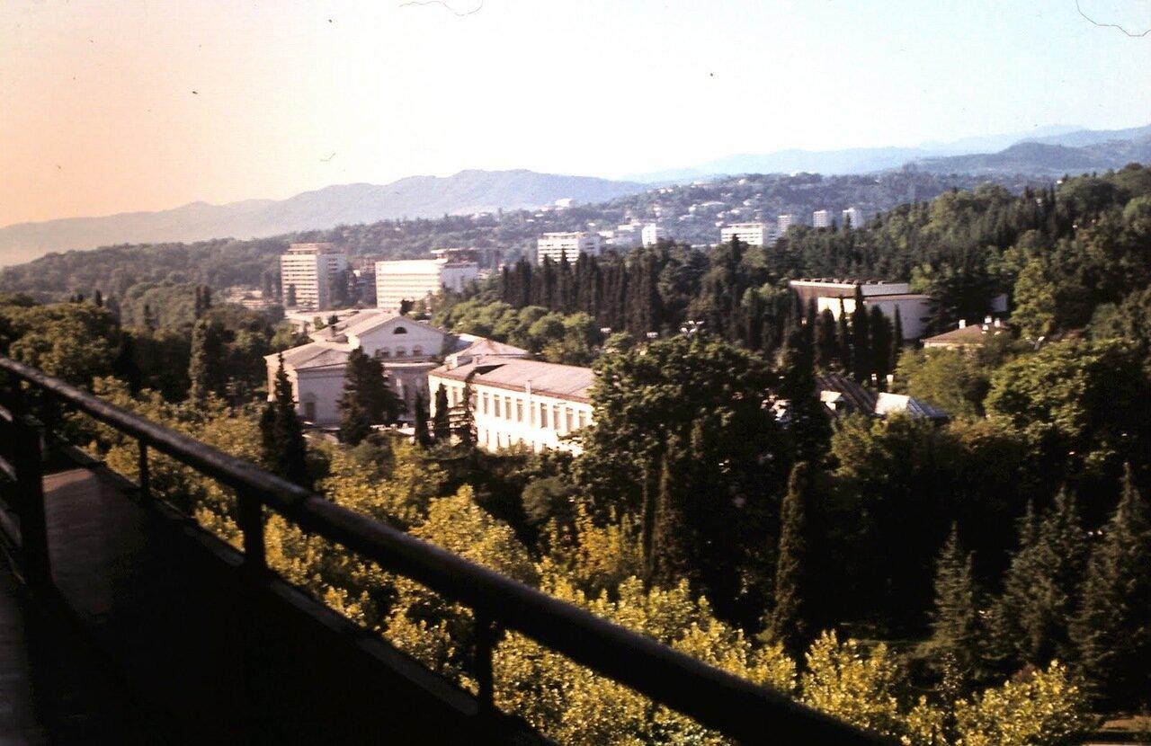 Вид с балкона гостиницы