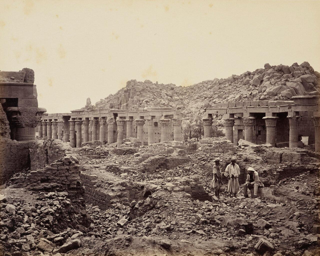 13 марта 1862. Филе, внешний двор храма Исиды