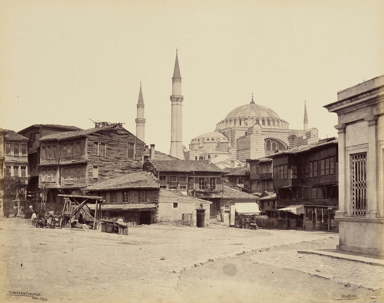 22 мая 1862. Мечеть Святой Софии. Вид от ипподрома. Константинополь