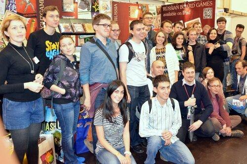 Русское сообщество на выставке настольных игр Spiel 2012