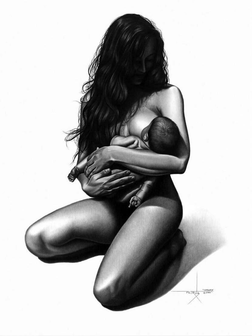 Рисунки карандашом голой девушки 17 фотография