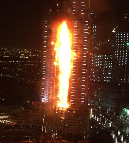 A MASSIVE FIRE AT DUBAI