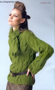 Болотные разные косы, свитер Наши воплощения