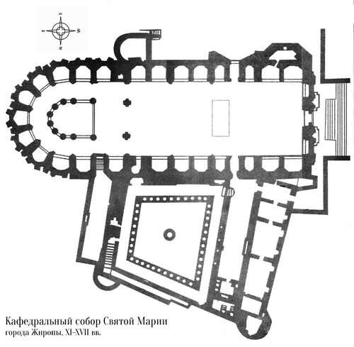 План церкви Сан-Фелиу в Жироне (plan The Collegiate Church of Sant Feliu, Girona)
