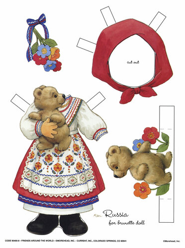 бумажные куклы с одеждой
