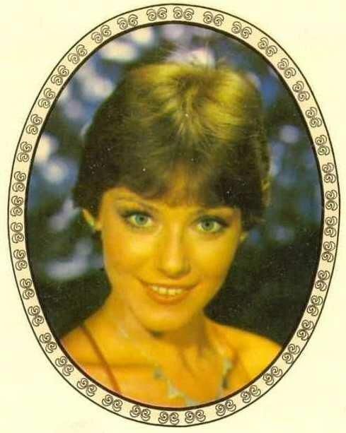 Переводная картинка из ГДР девушка 1985
