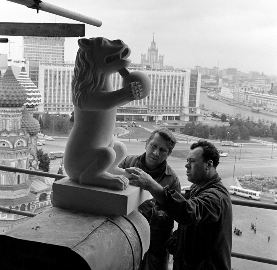 Ремонт Спасской башни, 1974 год