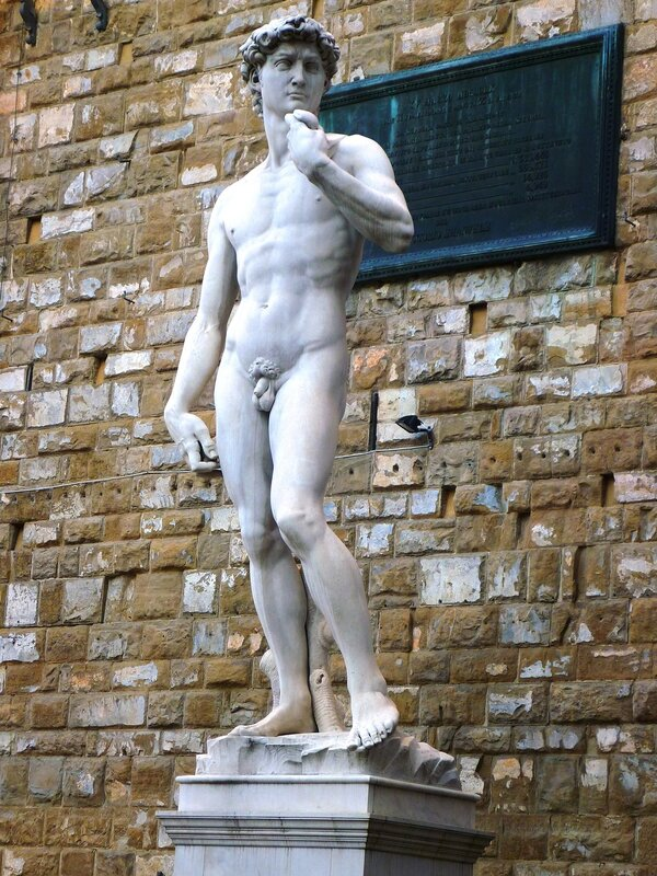 Италия. Флоренция. Скульптура Микеланджело (Italy. Florence. Sculpture by Michelangelo).