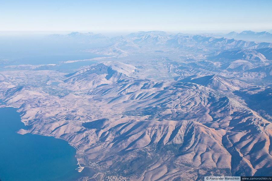 Балканский полуостров с высоты