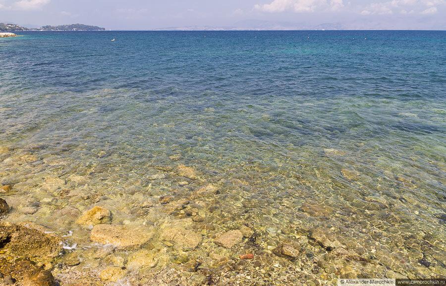 Ионическое море, восточный берег Корфу, Беницес