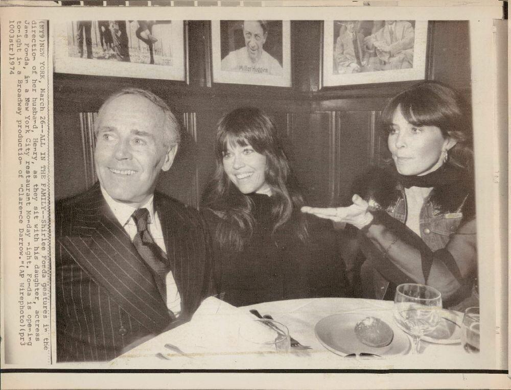 1974. Актерское семейство. Генри, Ширли и Джейн Фонда