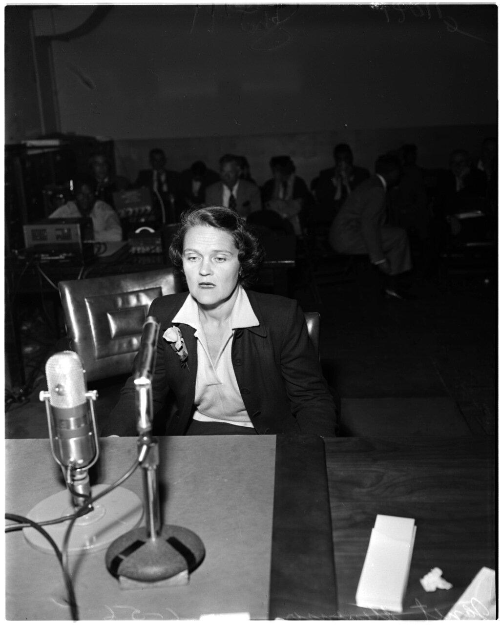 1956. 6 декабря. Комиссия по расследованию антиамериканской деятельности. Анита Шнайдер