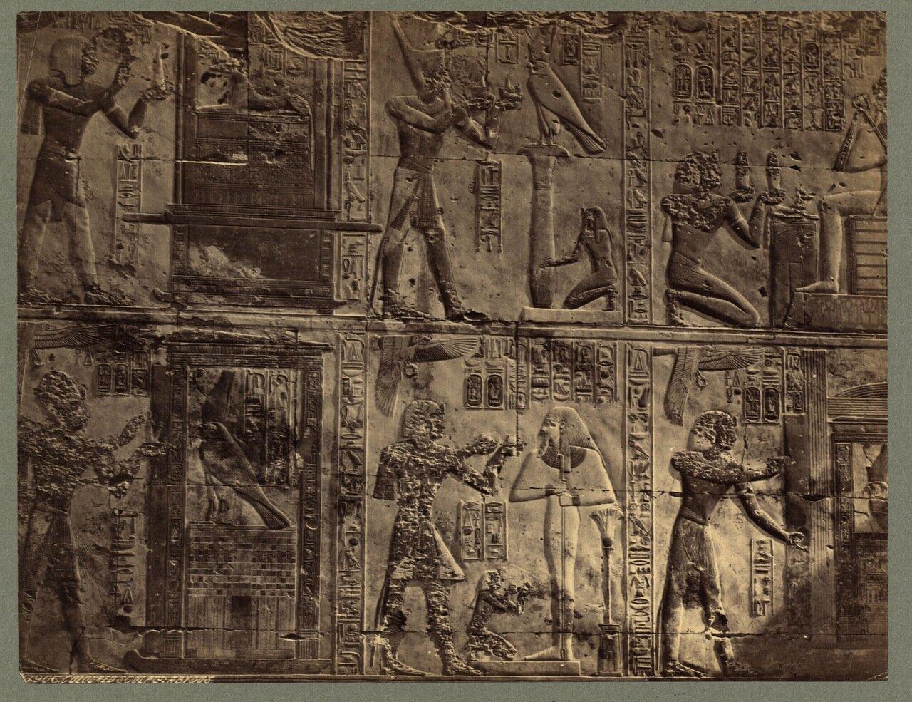 Абидос. Рельеф в храме Рамсеса II