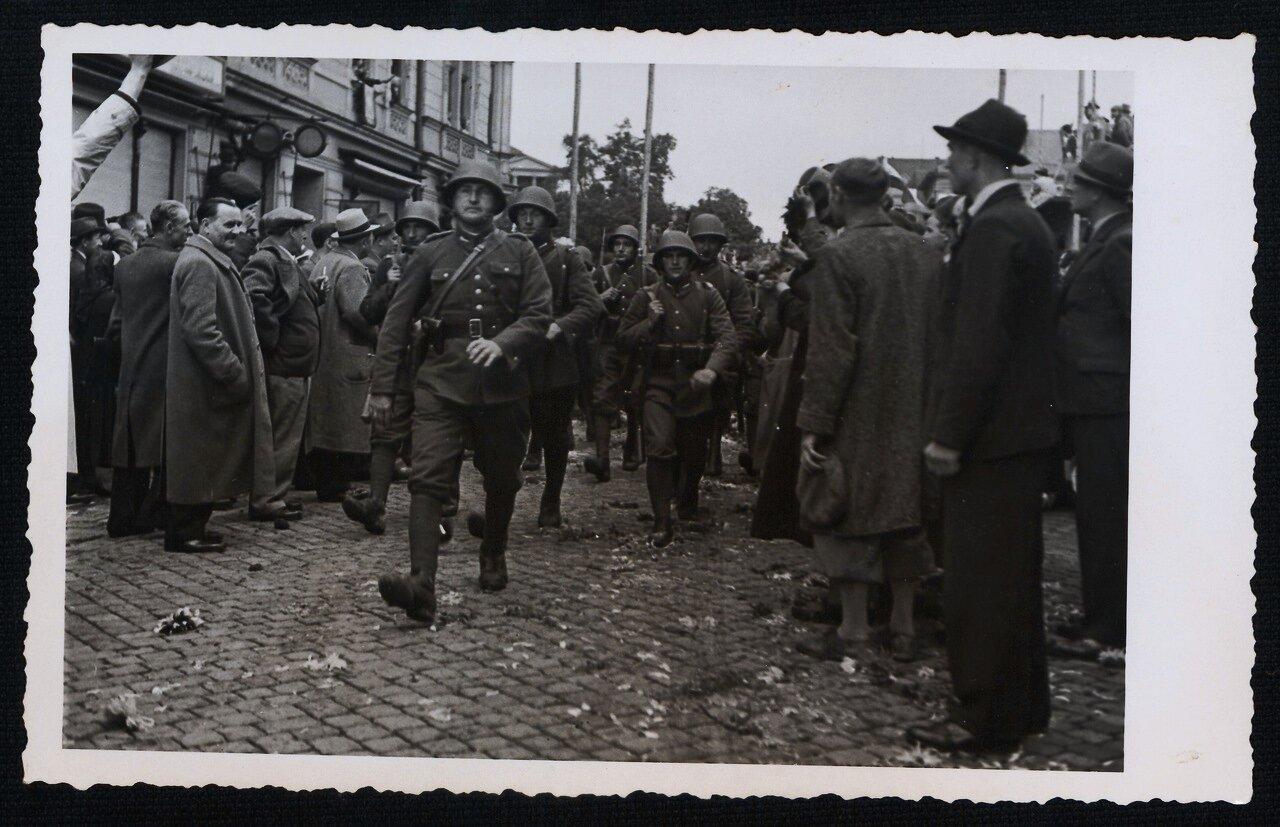 Вход польской пехоты в Чески-Тешин