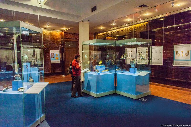 Экспозиция выставки фракийского золота