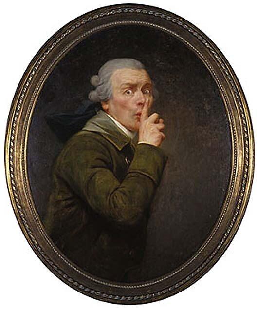Молчание...(Ша...) ок. 1790 г. Жозеф Дюкре(1735-1802) Алюминиевая Панель