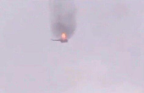 В Краматорске сбили вертолет