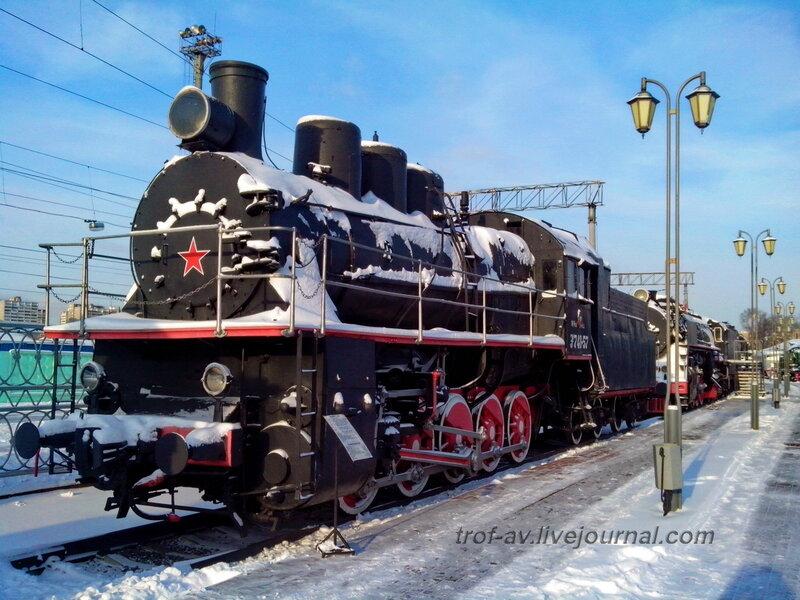 Паровоз Эм 740-57Музей РЖД, Москва