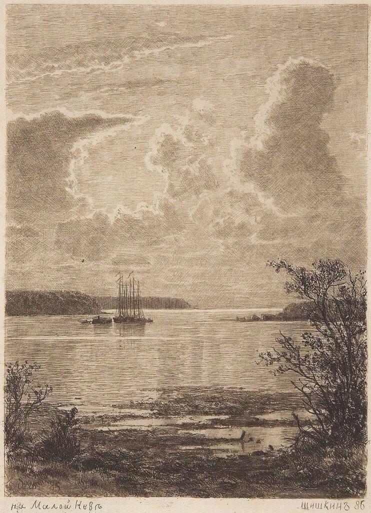 На Малой Неве. 1886 24х17,5.jpg