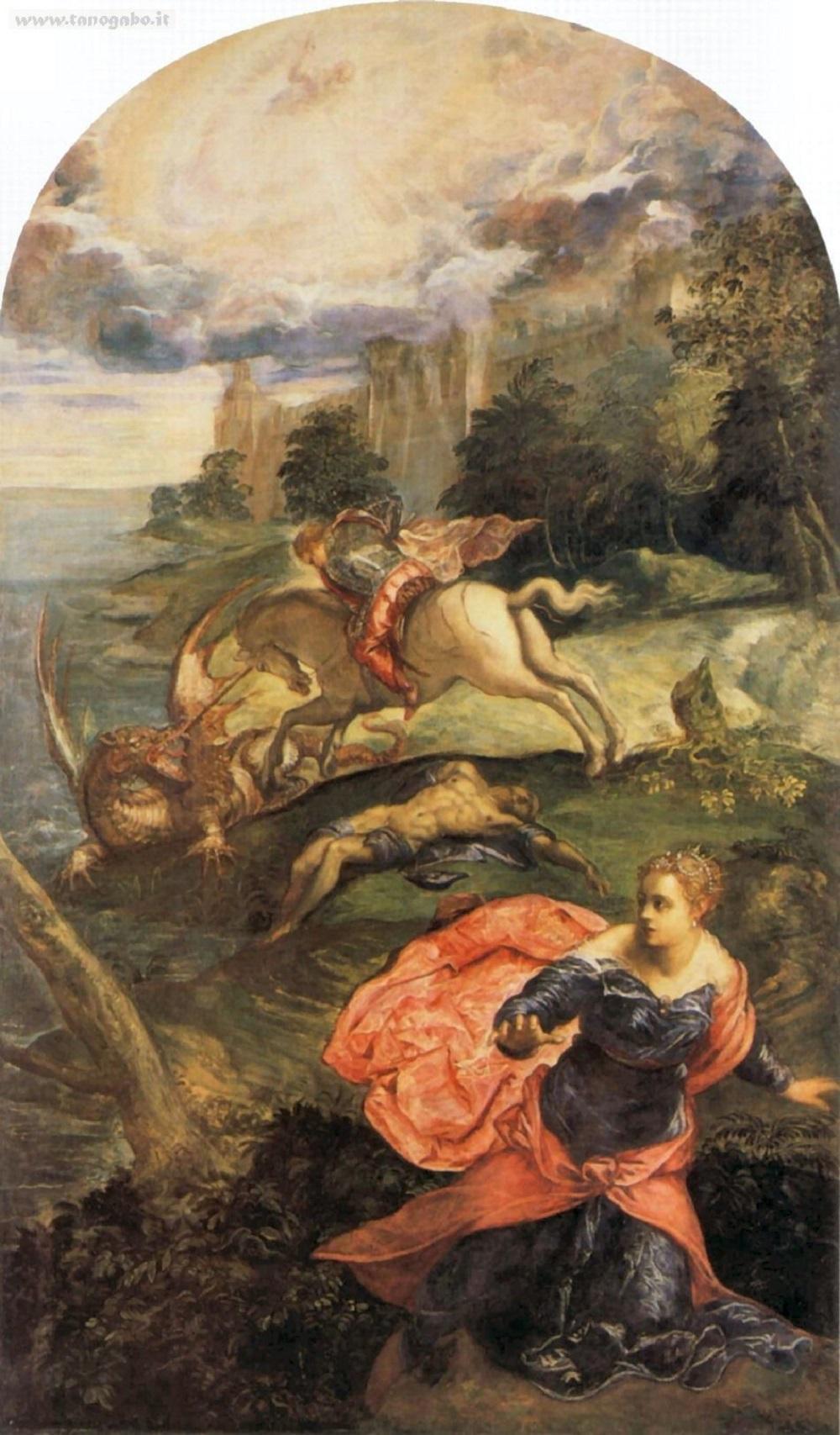 Tintoretto's St. George and the Dragon 1555-1558. Национальная галерея, Лондон.