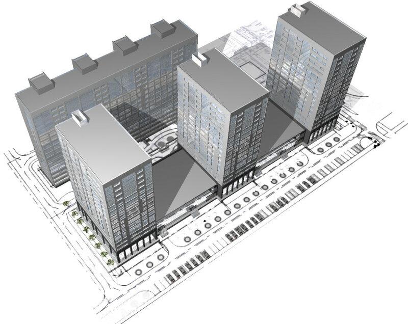 Эскизный проект жилого комплекса на Ново-Садовой (ЗиМ)