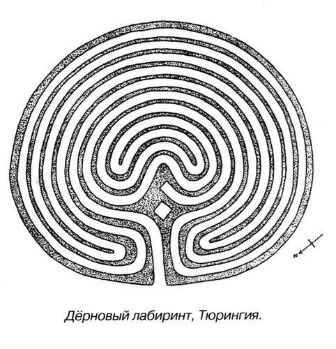 Дерновый лабиринт, Тюрингия, не сохранился
