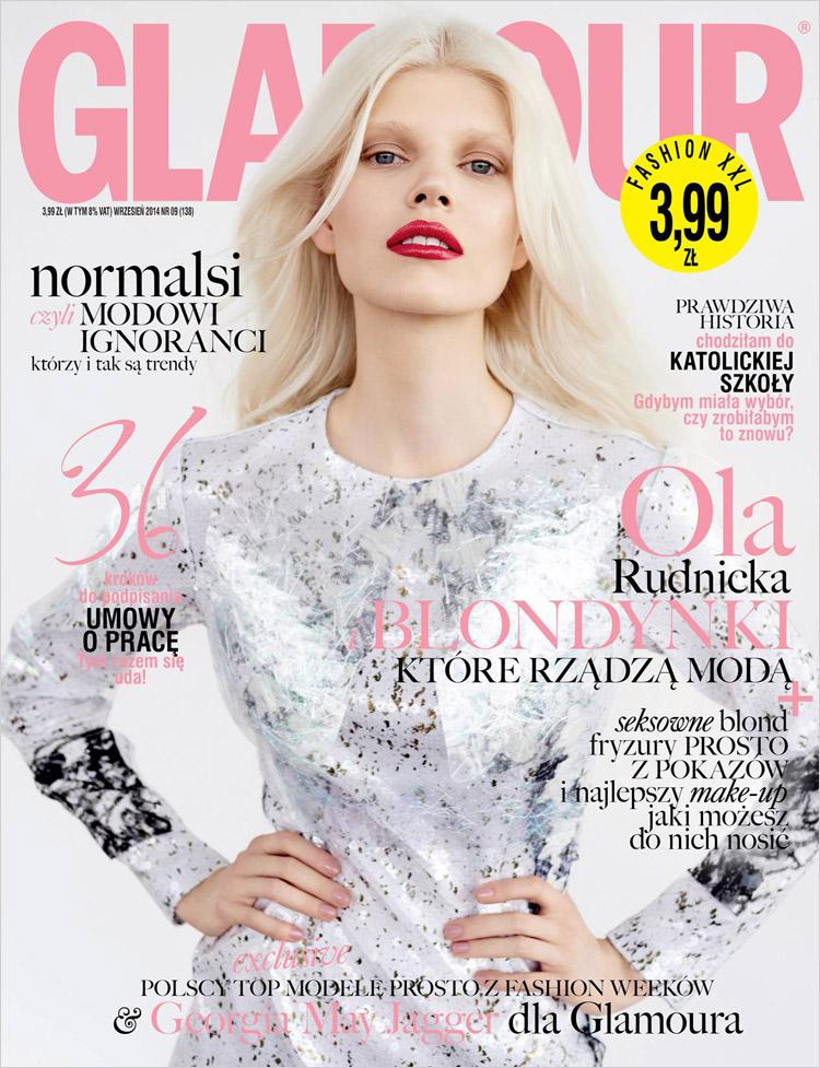 Ола Рудницка в сентябрьском номере журнала Glamour Poland