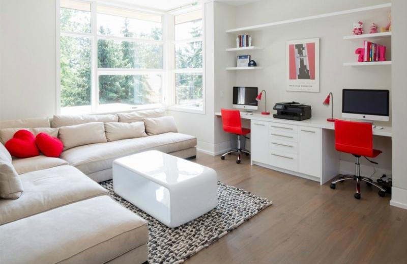 Белый цвет в интерьере гостиной, фото 10