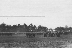 Парад в день празднования 250-летнего юбилея полка.