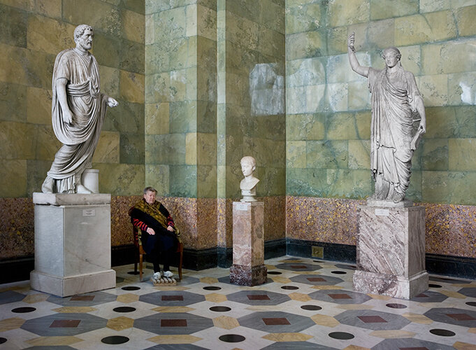 Statues of Antonius Pius, Youth and Caryatid, Hermitage 2008